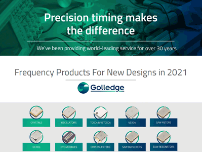 The Golledge New Designs Catalogue 2021 is available now. Browse our catalogue for all your frequency product needs in 2021.