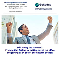 Read the September 2016 edition of the Golledge Electronics newsletter for more information on our Autumn events and book to meet the team there.