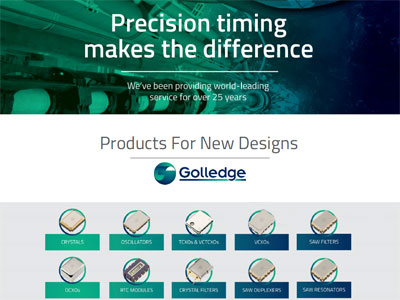 The Golledge Electronics new Designs Product Catalogue presents all the frequency products you could need for your next new design.