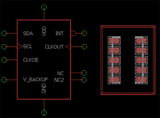 An example schematic from CadSoft Eagle