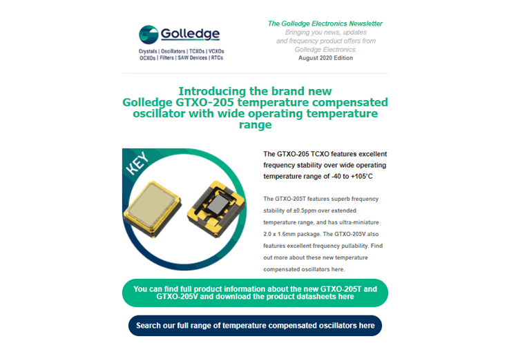 Just released - the Golledge Electronics newsletter - August 2020 edition. Read the full version here.