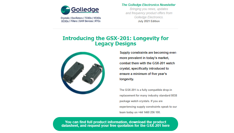 Read the Golledge July 2021 newsletter here.