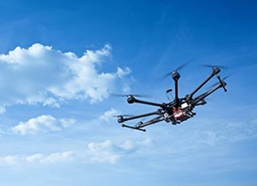 Drones and octocopters often require a combination of Mil-COTS and commercial parts.