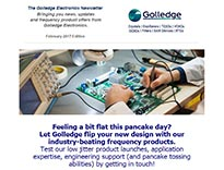 The February 2017 edition of the Golledge Electronics newsletter is now available and features industry news and product updates, including the launch of the GXO-7506.